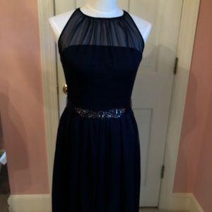 Adrianna Papell Navy Wedding/Cocktail Dress Sz 8